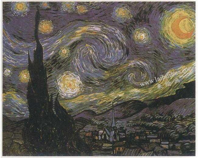 文森特•梵高《星月夜》(星空)世界名画