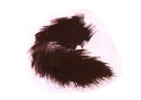 猫尾巴的水墨画法