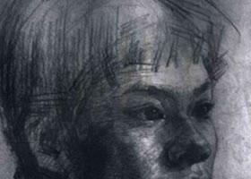 《人物头像》素描作品