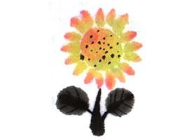 向日葵儿童水墨画法