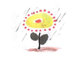 小花儿童水墨画法