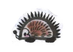 小刺猬儿童水墨画法(二)