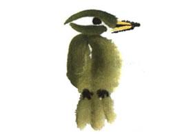 绿鸟儿童水墨画法