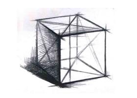 单个石膏几何形体的结构素描画法
