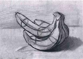 单个静物的结构素描画法