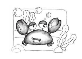 螃蟹创意素描画法