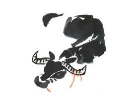 水牛儿童水墨画法
