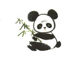 大熊猫儿童水墨画法(二)