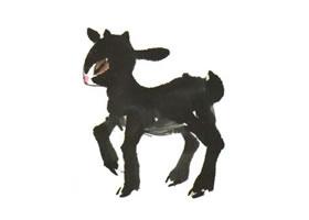 羊羔儿童水墨画法