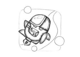 宇宙飞船创意素描画法