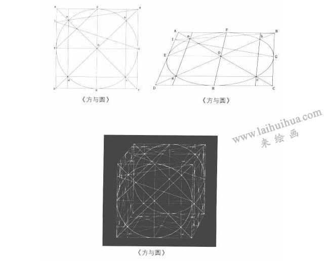 以方、圆为基本形体的物象写生方法