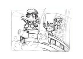 海盗创意思素描画法
