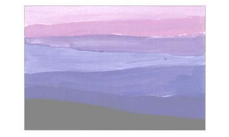 彩色的大地水粉画创作步骤04