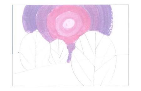 装饰风景画水粉画创作步骤01