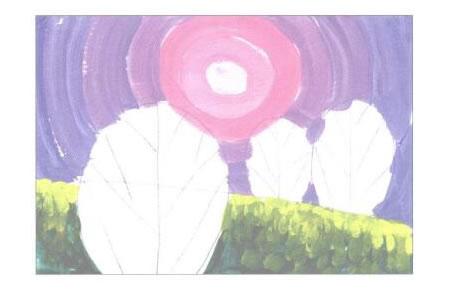 装饰风景画水粉画创作步骤02