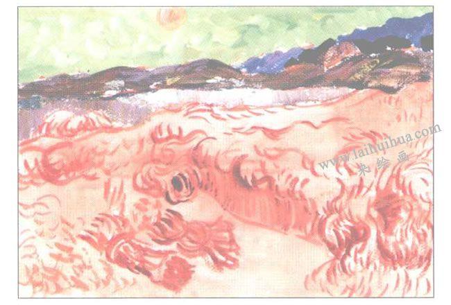 《收割者》水粉画创作步骤02