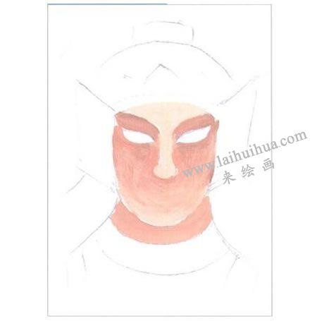 戴头盔的将军水粉画法创作步骤01