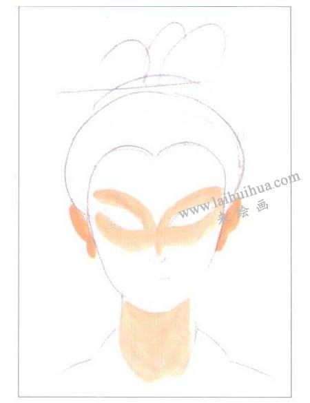 古代仕女水粉画法创作步骤01