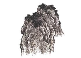 山水画雨点皴技法解析