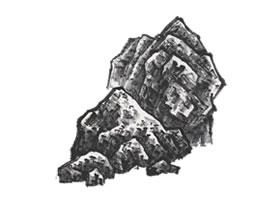 山水画刮铁皴技法解析