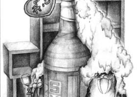啤酒瓶儿童创意素描画法