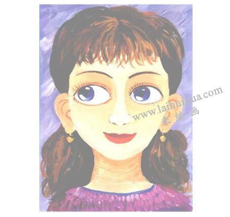 漂亮的妈妈水粉画创作步骤05