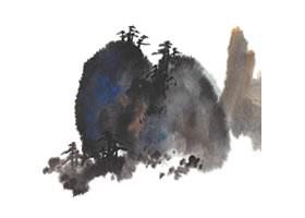 山水画泼彩法技法解析