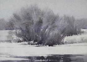 水彩画皴擦用笔技法