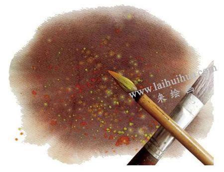 水彩画弹色技法