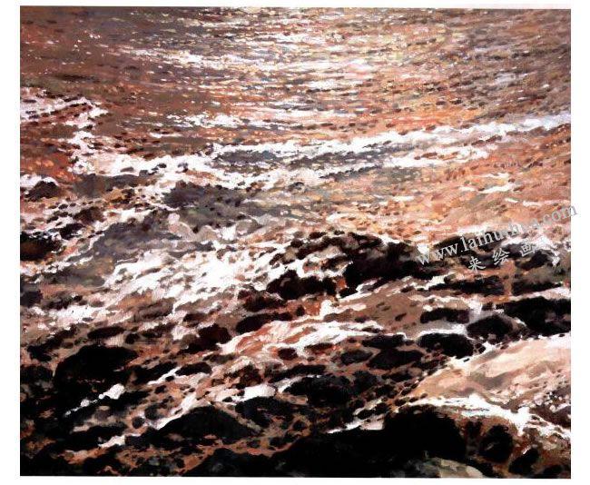 水向东流 130x162cm 2009年
