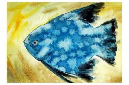 水彩画滴水技法画法范例01