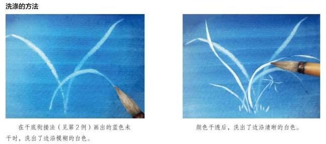 水彩画洗涤的方法