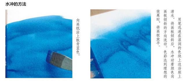 水彩画水冲技法