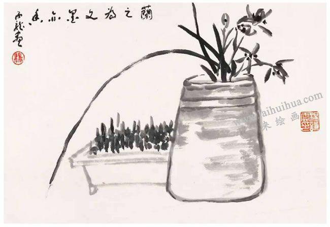 兰草的写意画法03