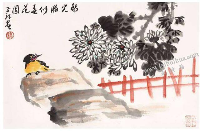 菊花的写意画法03