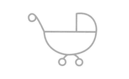 婴儿车简笔画法步骤04