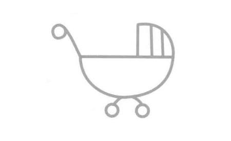 婴儿车简笔画法步骤05