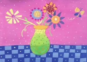 花瓶中的花儿水粉画法