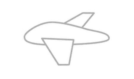 轰炸机简笔画法步骤02