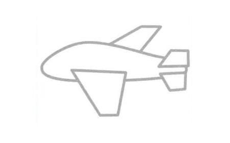 轰炸机简笔画法步骤03