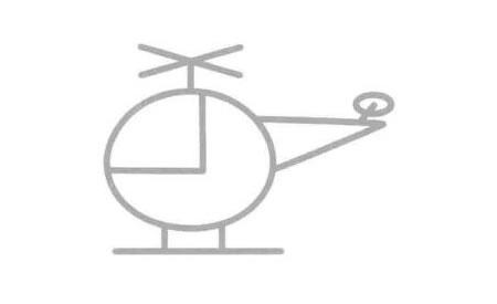 直升机简笔画法步骤06