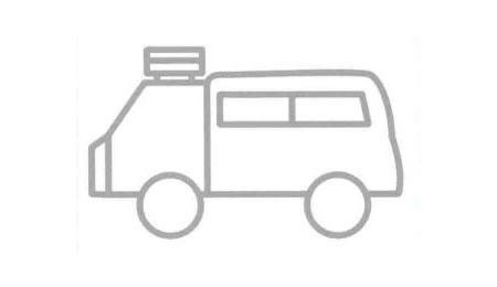 旅行车简笔画法步骤06