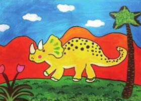 恐龙水粉画法