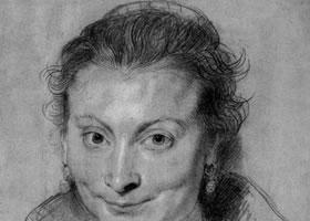鲁本斯贵族妇女速写作品