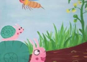 小蜗牛找妈妈水粉画法
