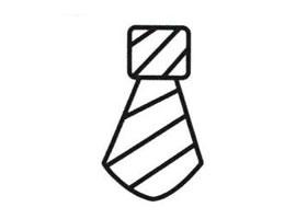 领带简笔画法