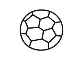 足球简笔画法