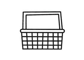竹篮简笔画法