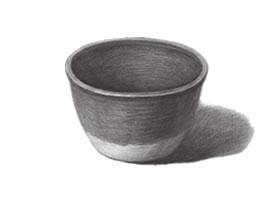 陶体的素描画法