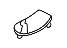 滑板简笔画法
